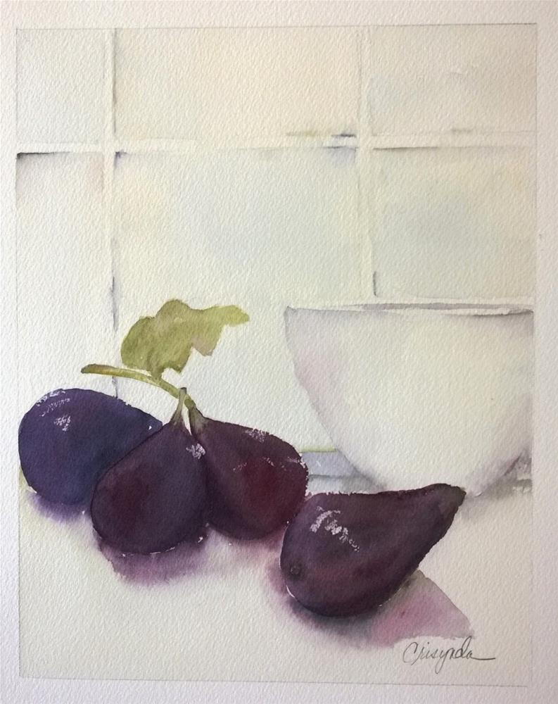 """Loves me some Figs"" original fine art by Crisynda Buss"