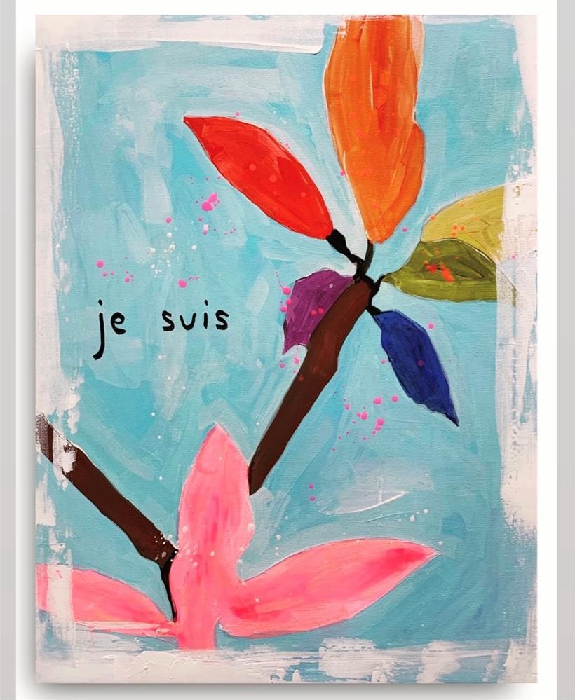 """846 Je Suis"" original fine art by Jenny Doh"