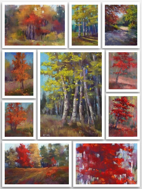 """Autumn Trees"" original fine art by Karen Margulis"