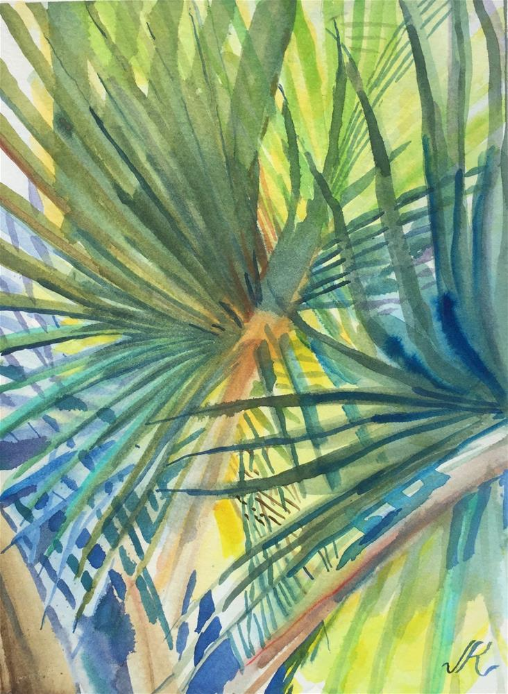 """Palm"" original fine art by Jean Krueger"