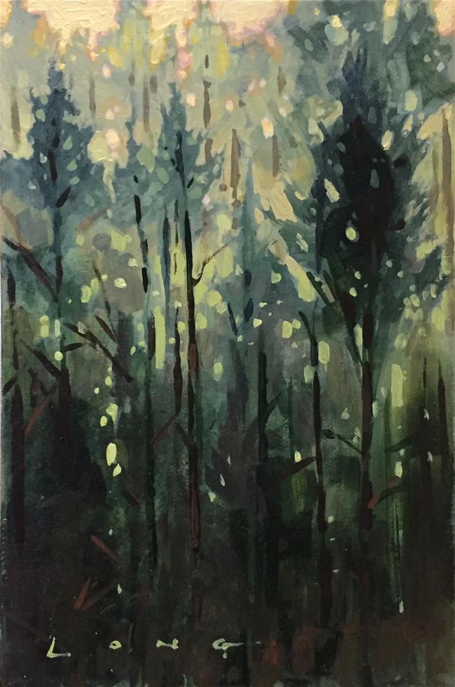 """""""Hillside"""" original fine art by Chris Long"""