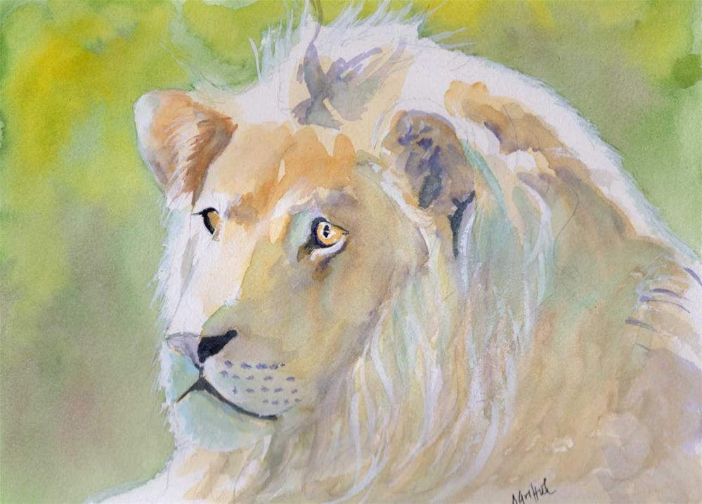 """Lion"" original fine art by Bunny Griffeth"