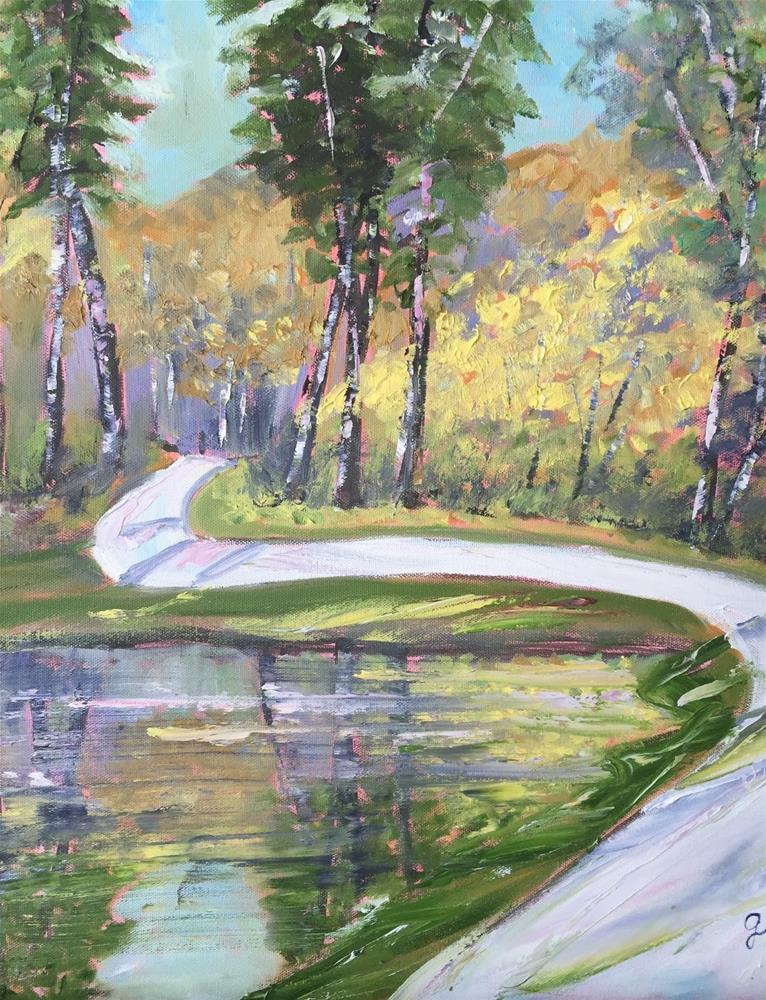 """Walk in the Park"" original fine art by Gayle Lambeth"