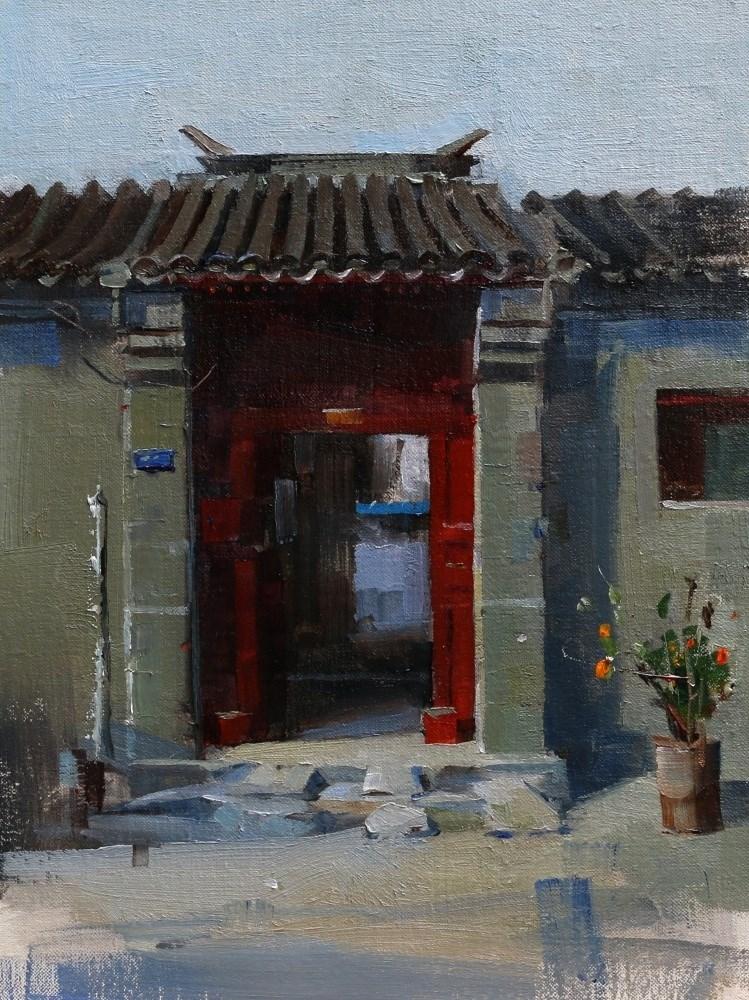 """""""Beijing Hutong 2014 - 4"""" original fine art by Qiang Huang"""