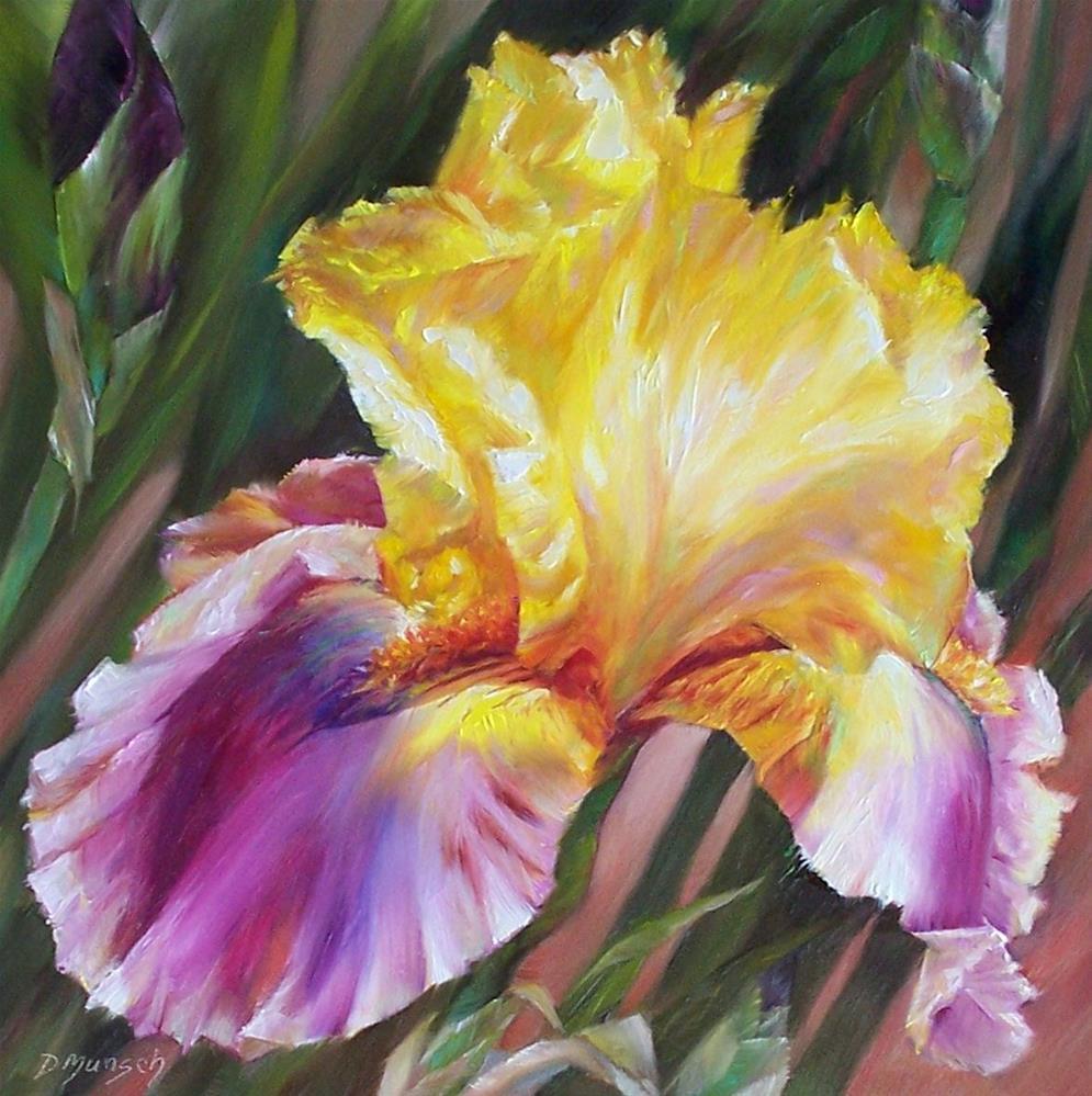"""""""Reflective Iris"""" original fine art by Donna Munsch"""