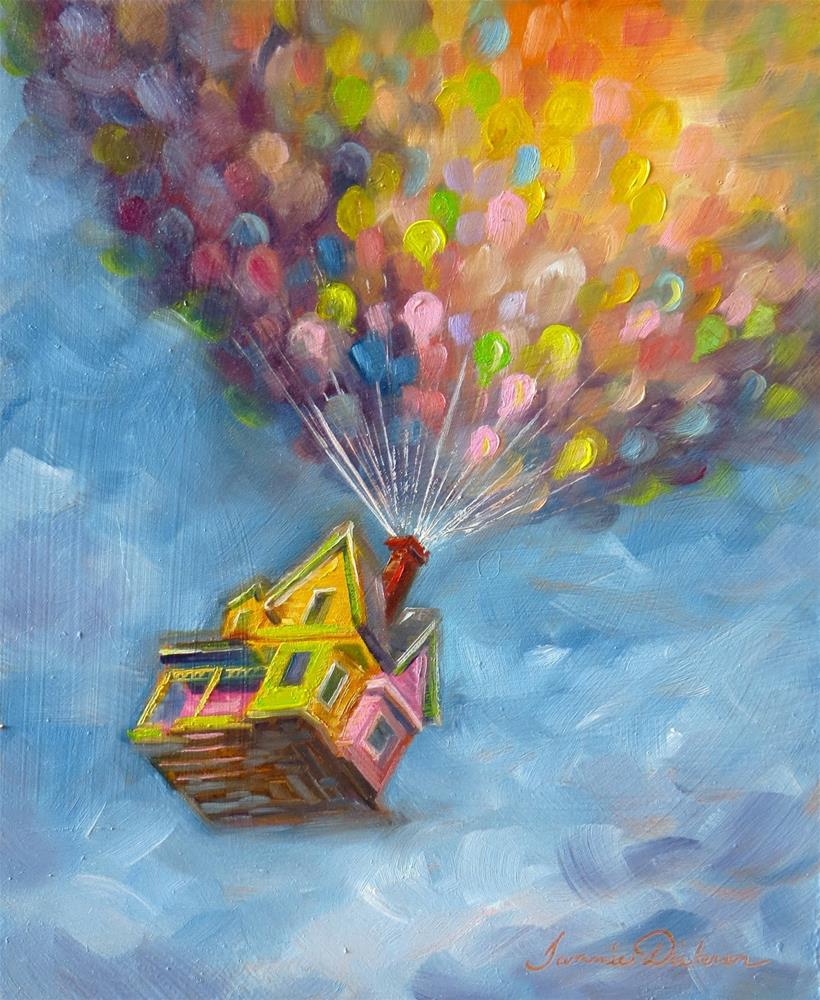 """""""Up! - for Baby :)"""" original fine art by Tammie Dickerson"""
