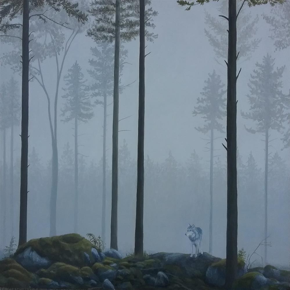 """Coastal wolf"" original fine art by Staar Caswell"
