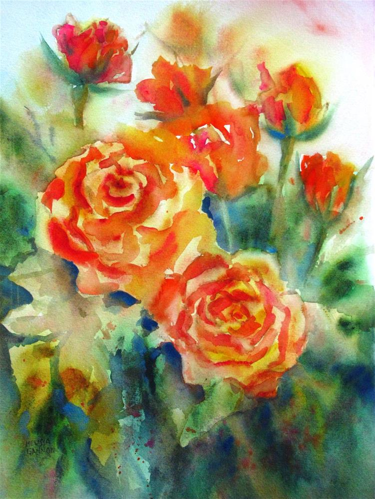 """Rose Minuet"" original fine art by Melissa Gannon"