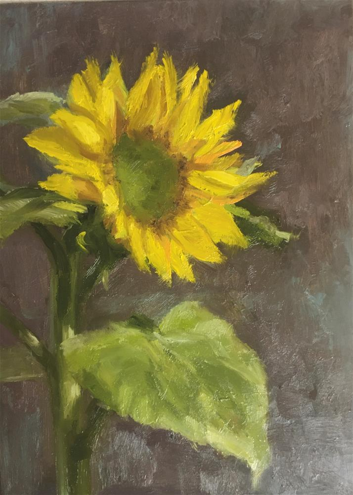"""Loch Lomond Sunflower"" original fine art by Tahirih Goffic"