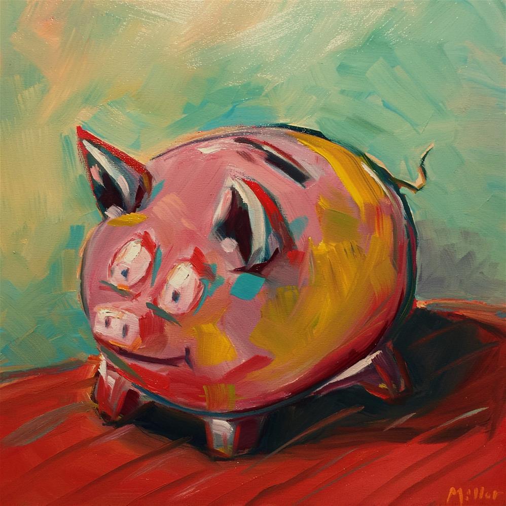 """0459: Pigs for Market"" original fine art by Brian Miller"