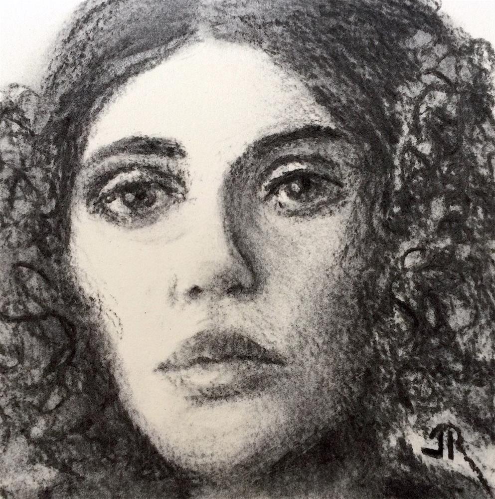 """""""Sorrow"""" original fine art by June Rollins"""