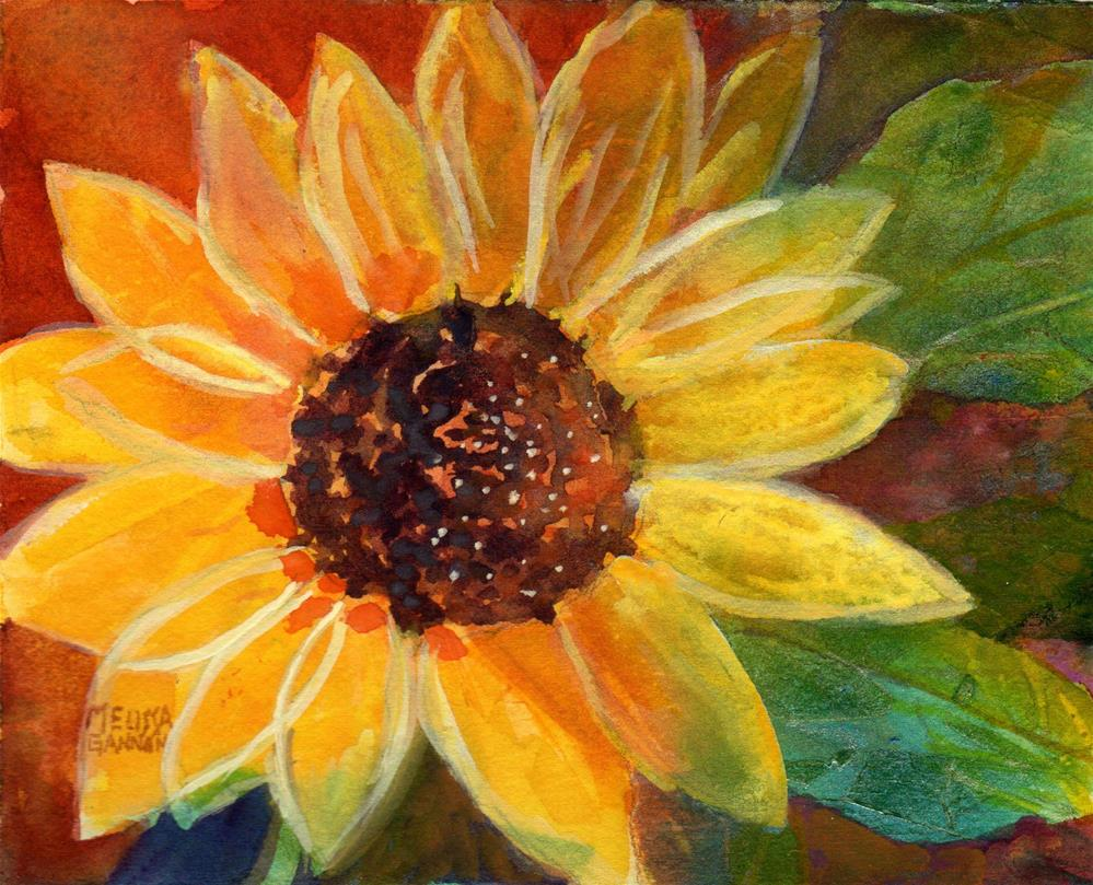 """Sunflower Solo"" original fine art by Melissa Gannon"