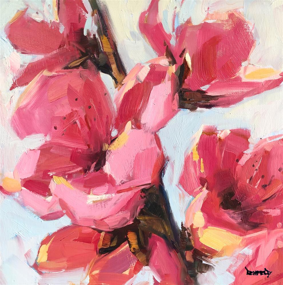 """Peachy"" original fine art by Cathleen Rehfeld"
