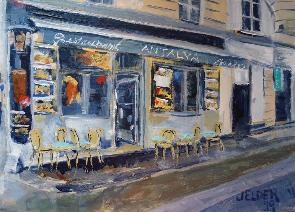 """Paris No. 127"" original fine art by Judith Elder"