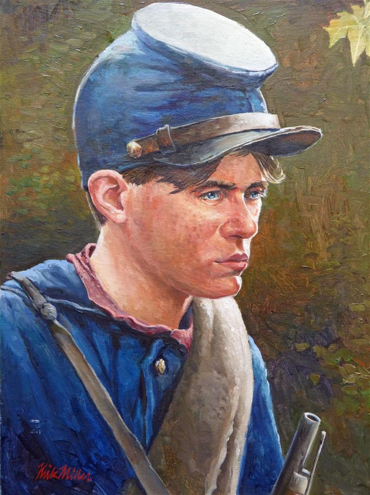 """Young Soldier"" original fine art by Kirk Miller"