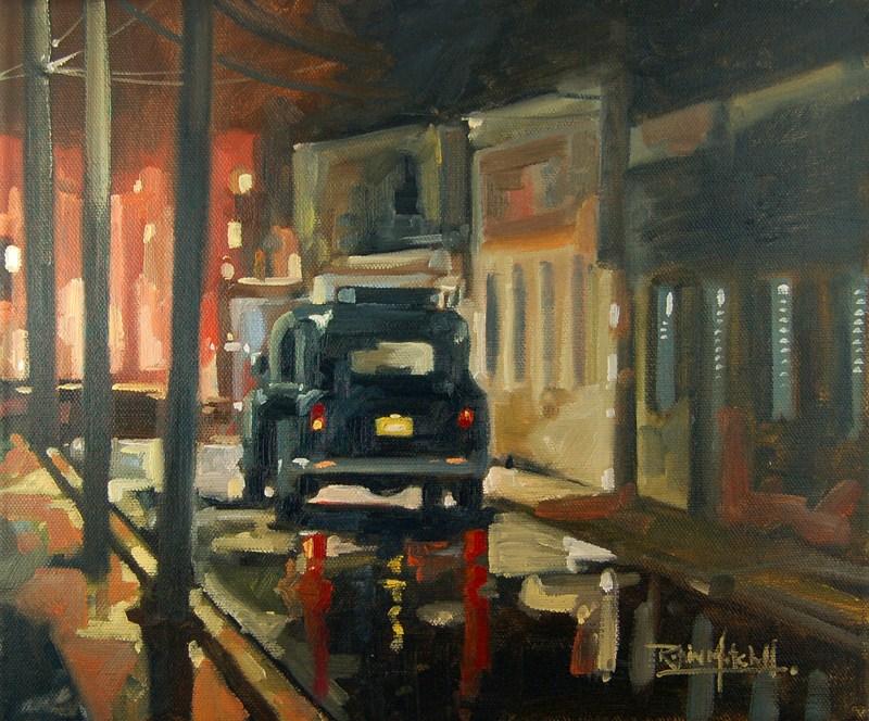 """No 466 Wet Road"" original fine art by Robin J Mitchell"