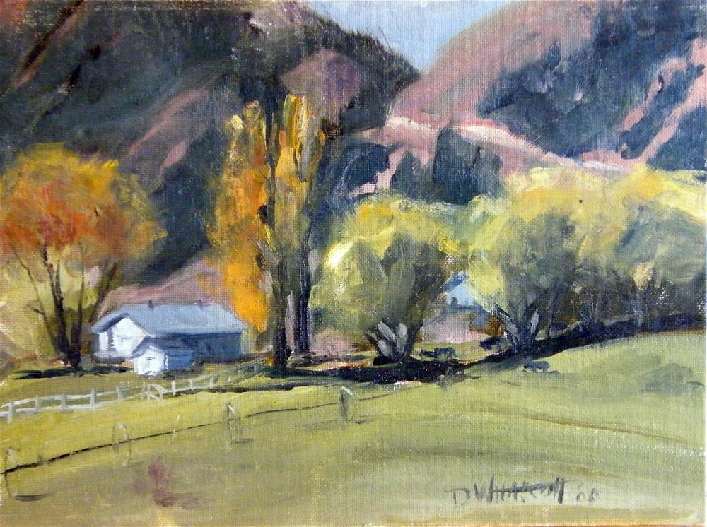 """Mountain ranch"" original fine art by Donna Whatcott Parsons"
