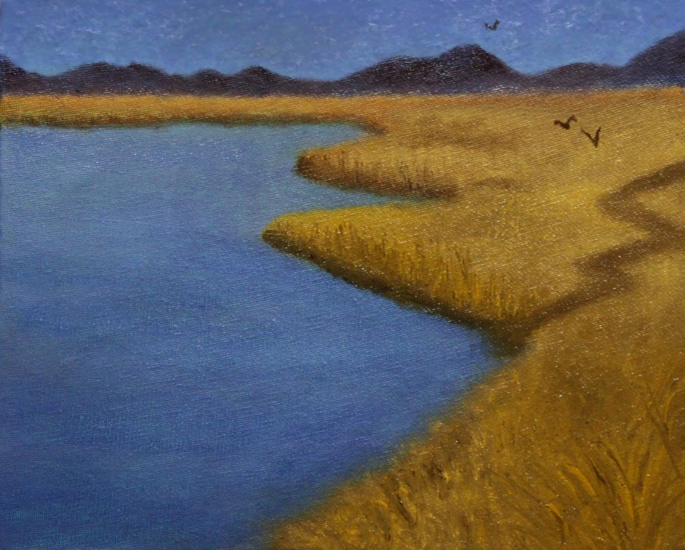 """""""Calm Waters 001a 10x8 oil on canvas panel - TheDailyPainter.jpg"""" original fine art by Dave Casey"""