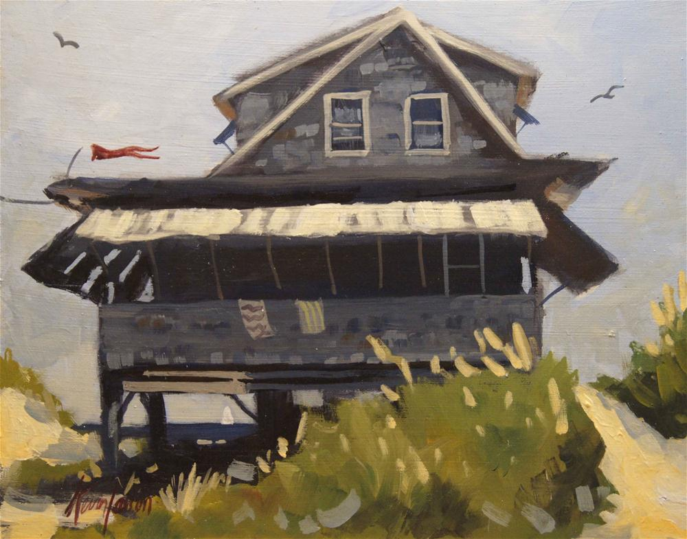 """Beach Cottage 2"" original fine art by Kevin Larson"