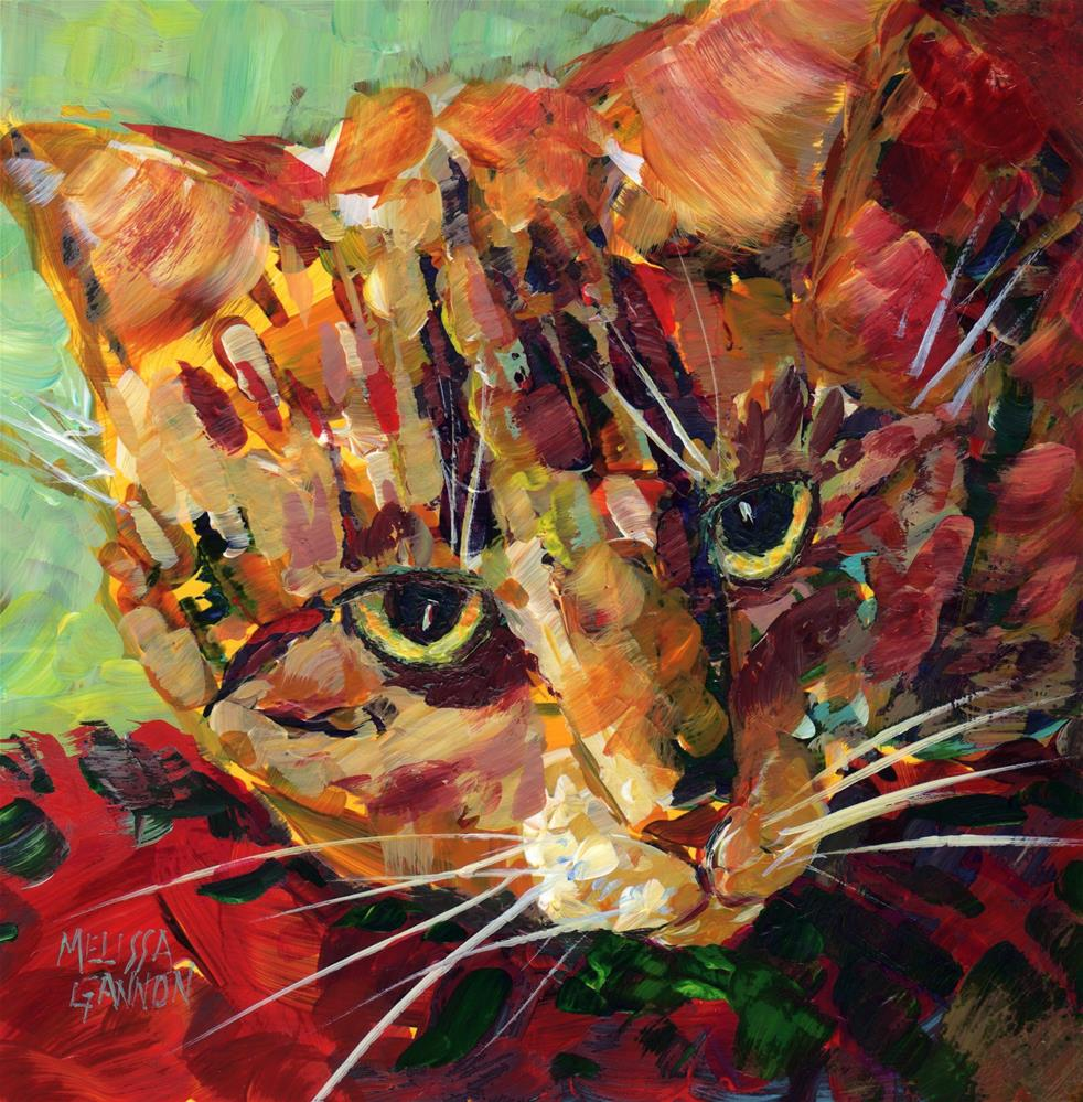 """Calico Attitude"" original fine art by Melissa Gannon"