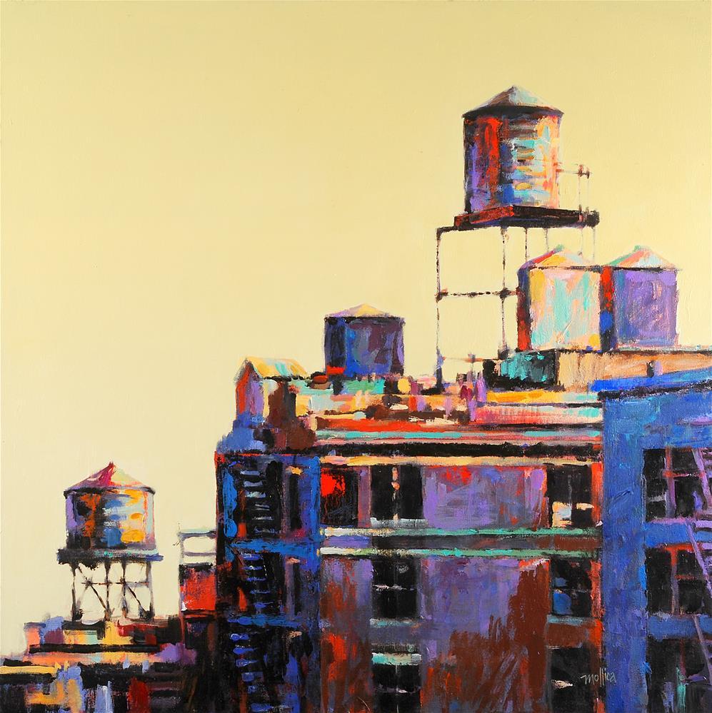 """Harlem  Rooftops"" original fine art by Patti Mollica"