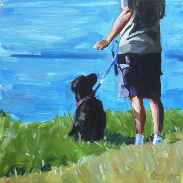 """""""052 Hund und Herr"""" original fine art by Anja Berliner"""