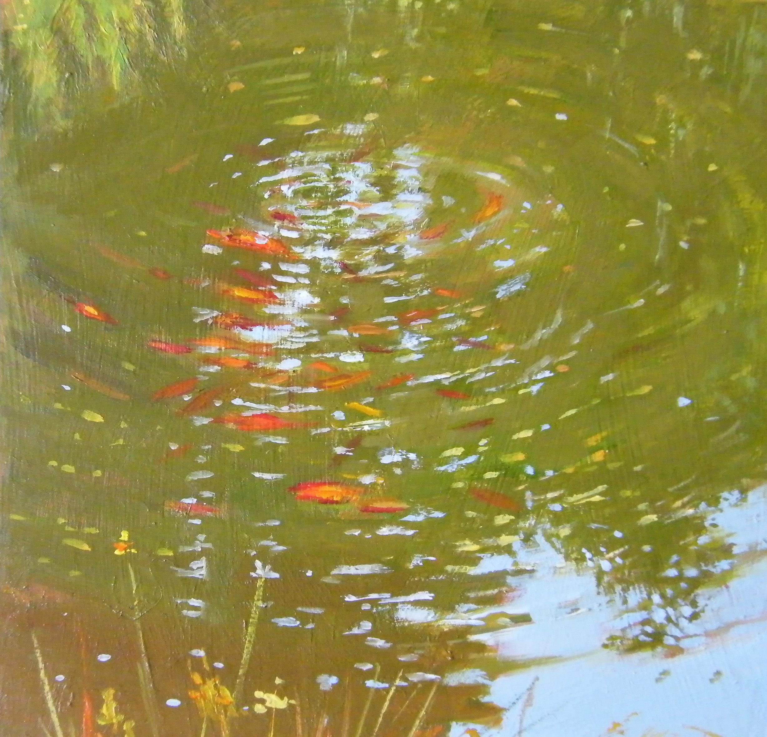 """Goldfish"" original fine art by Ken Devine"