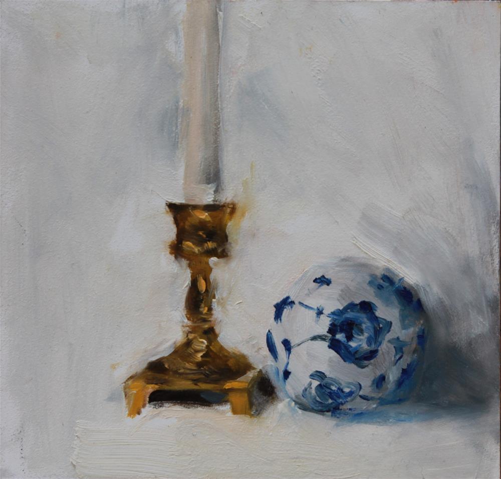 """Brass and Ceramic"" original fine art by Karen Solorzano"