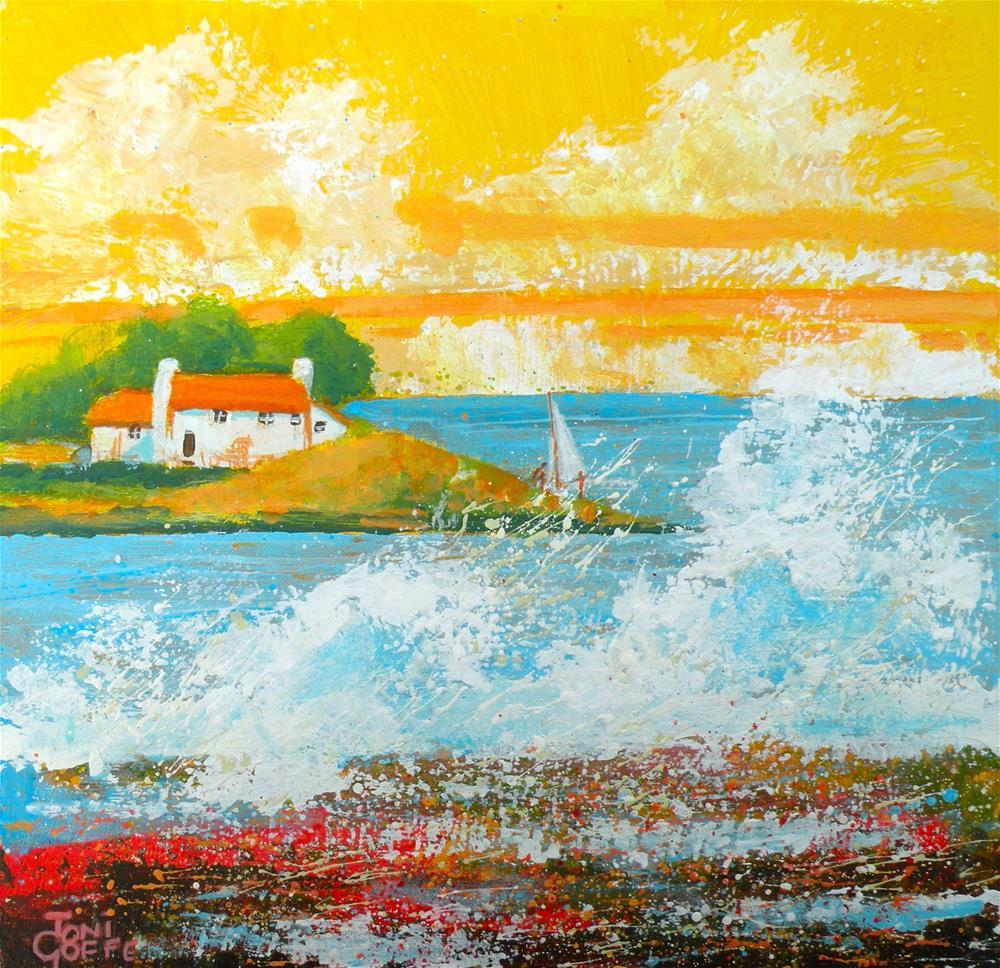 """Sailing"" original fine art by Toni Goffe"