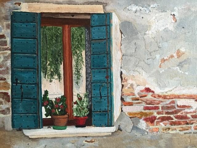 """""""Shutters"""" original fine art by Helen Kuhn"""