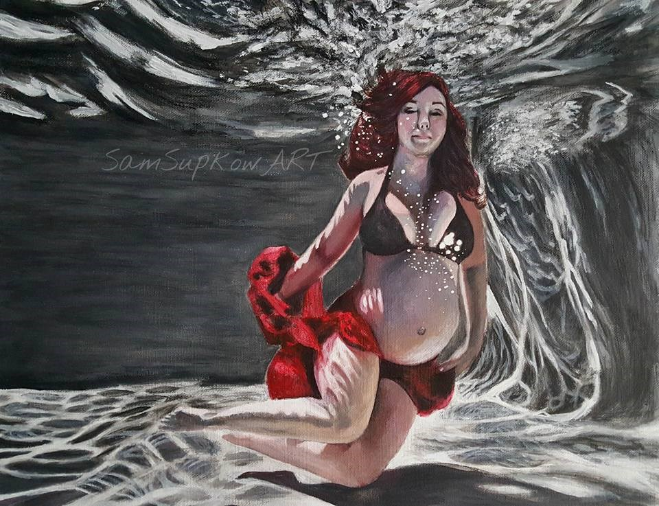 """Lillie Maternity"" original fine art by Sam Supkow"