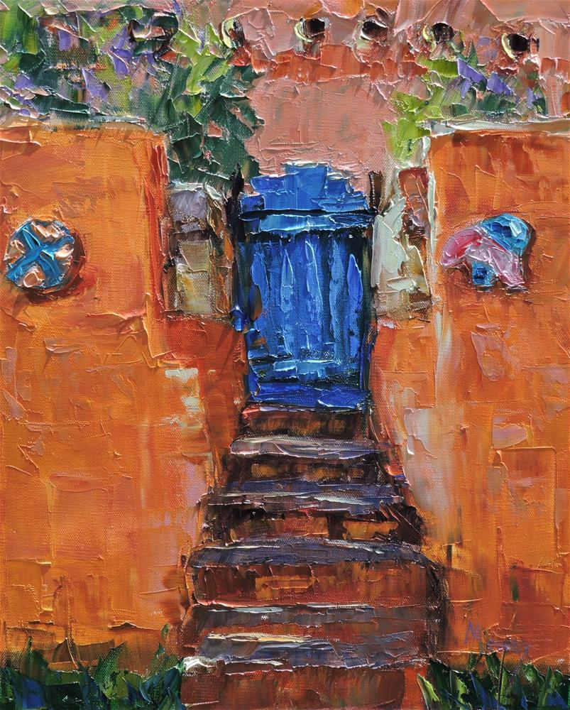"""The Blue Door"" original fine art by Linda mooney"