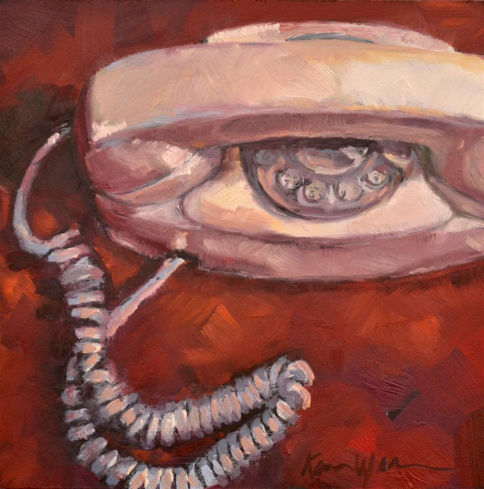 """""""The Princess Phone"""" original fine art by Karen Weber"""