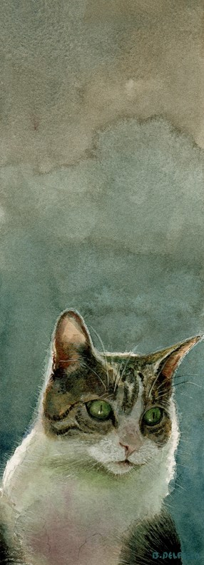 """""""Watercolor: Stealthy Mischief (& a video clip about a John Singer Sargent painting)"""" original fine art by Belinda Del Pesco"""