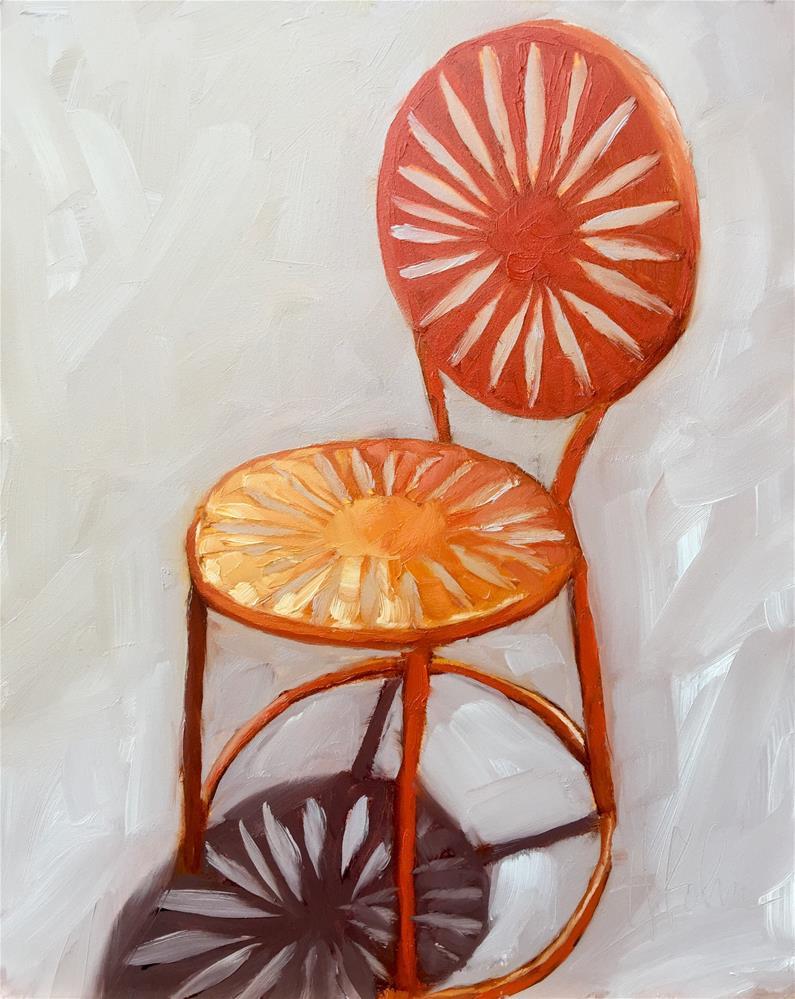 """Chair at The Union"" original fine art by Hallie Kohn"