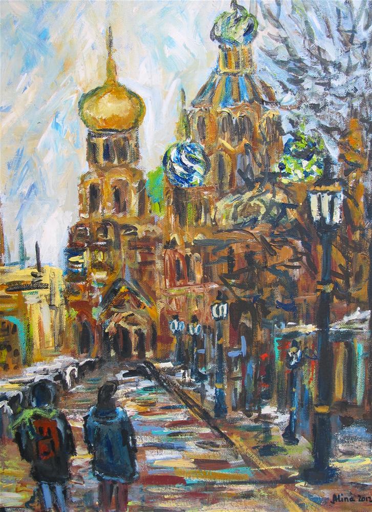 """""""St. Petersburg"""" original fine art by Alina Vidulescu"""