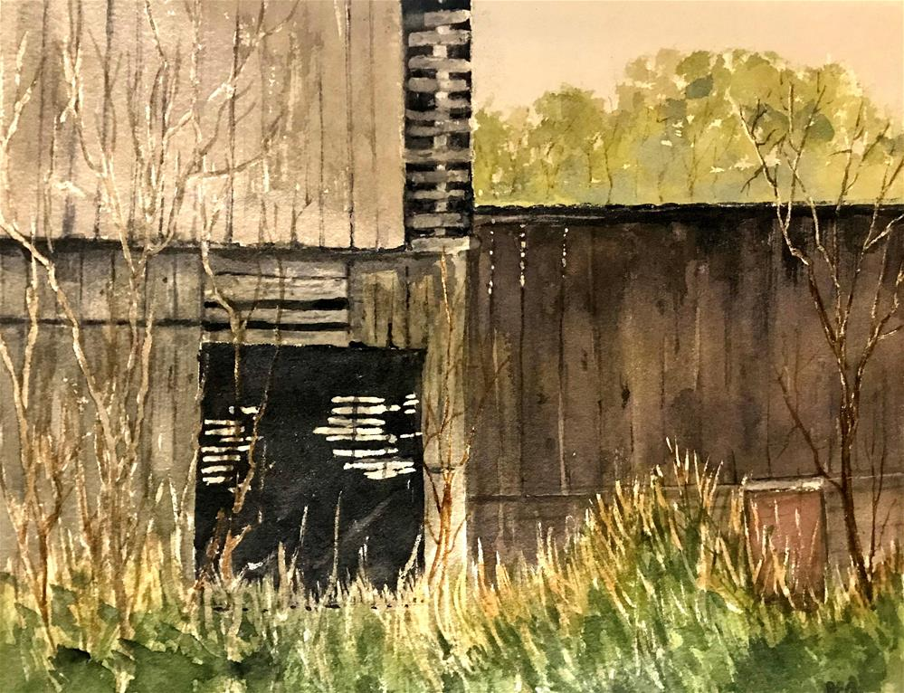 """the barn needs repair"" original fine art by Betty Argiros"