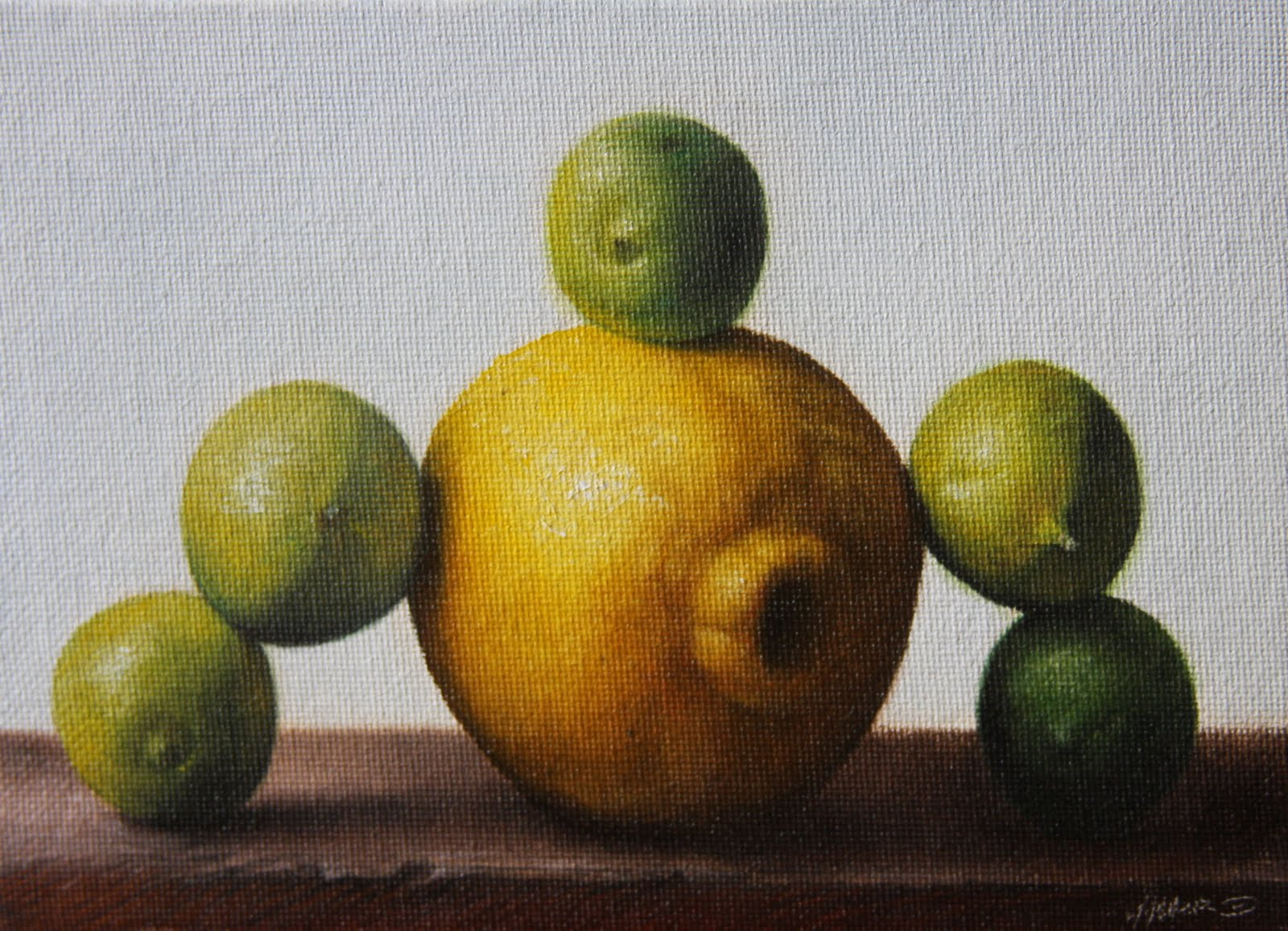 """""""Limes over Lemon"""" original fine art by Jonathan Aller"""