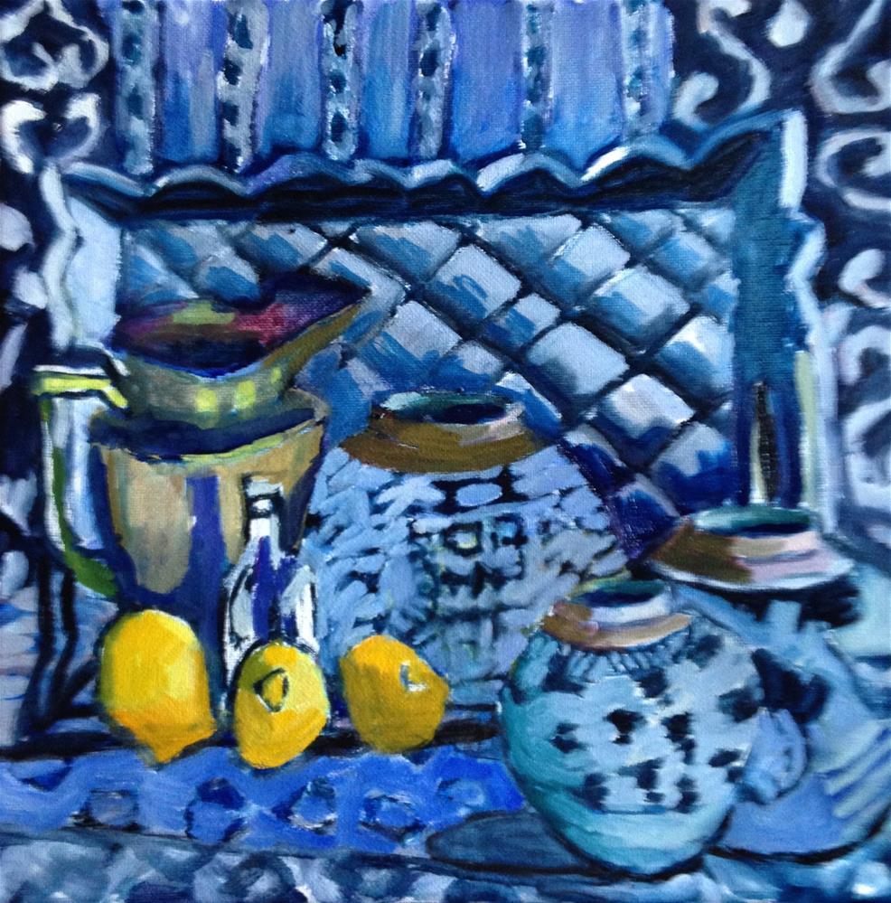 """""""Sedentary Lemons"""" original fine art by Pamela Hoffmeister"""
