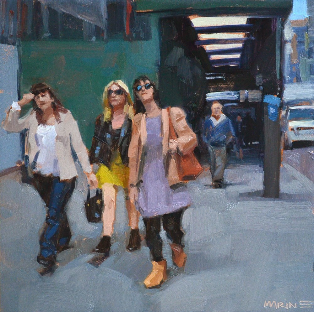 """Girl Gang"" original fine art by Carol Marine"