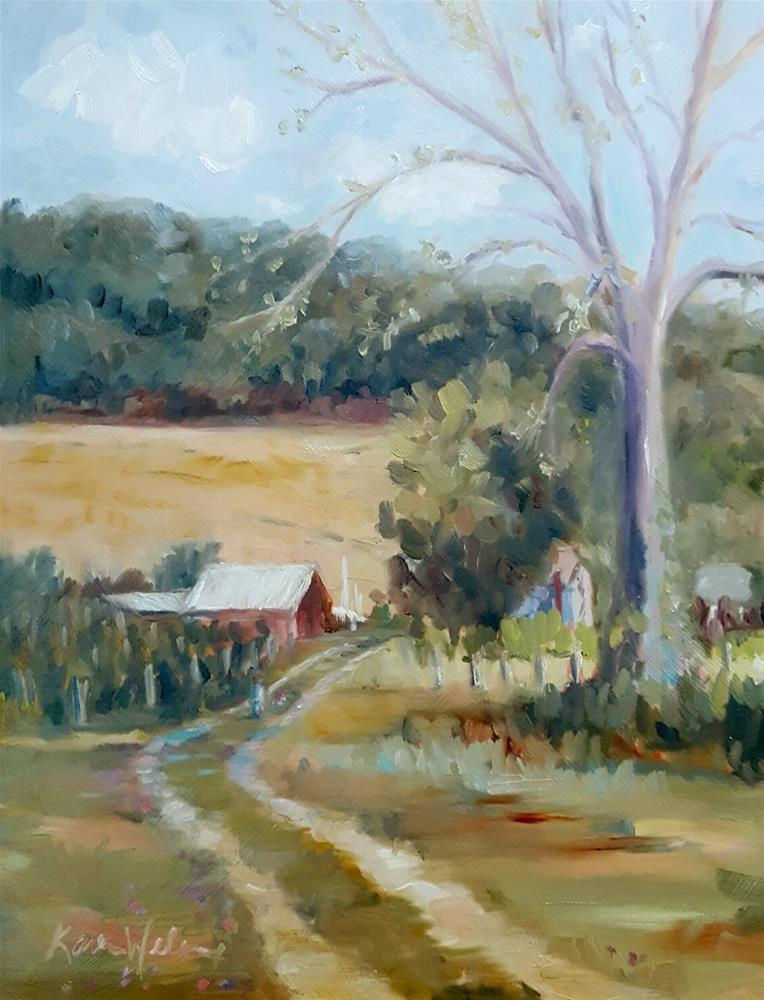 """""""Pagoda Hills Vineyard"""" original fine art by Karen Weber"""