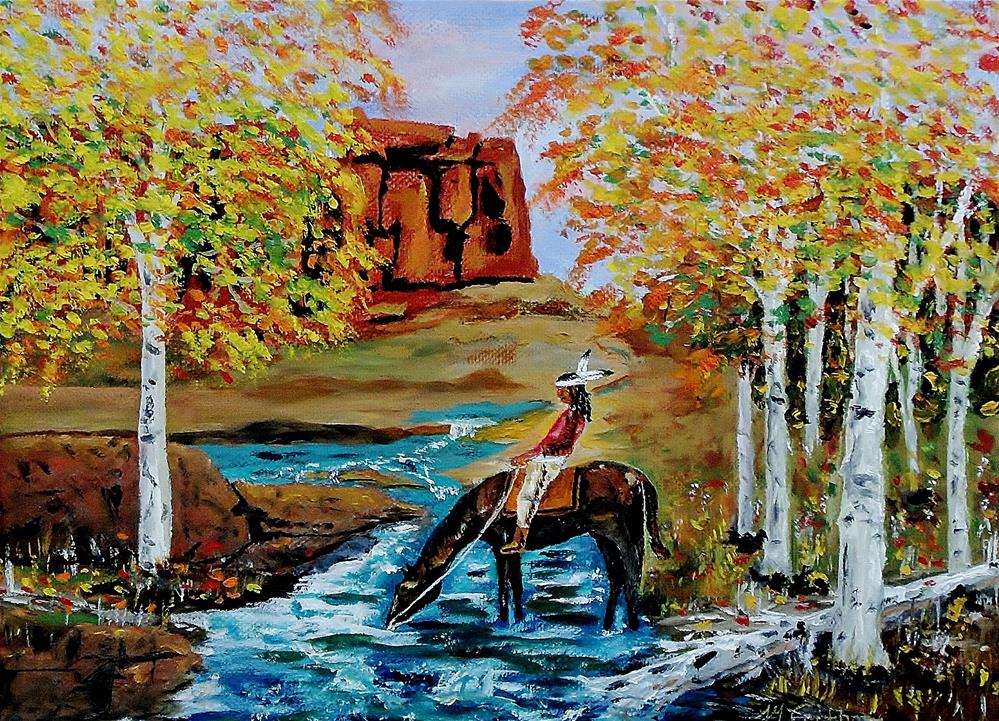 """Indian Summer In The Rockies"" original fine art by Mike Caitham"
