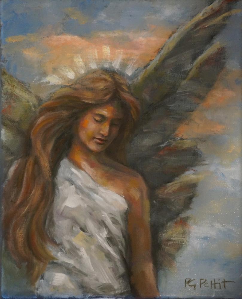 """Angels500: Carly"" original fine art by Rhea  Groepper Pettit"