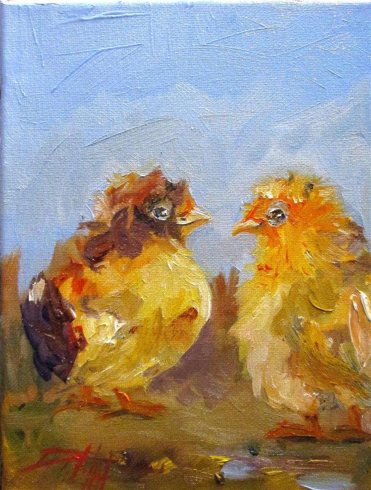 """Baby Chick"" original fine art by Delilah Smith"