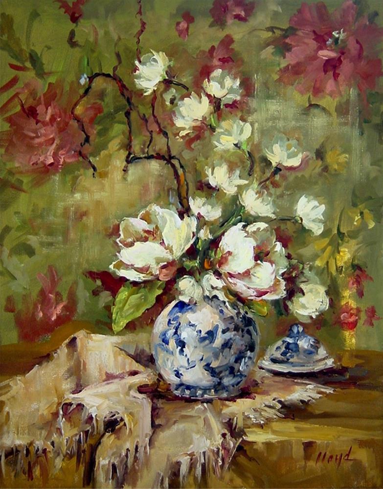 """""""Magnolias"""" original fine art by Diane Lloyd"""