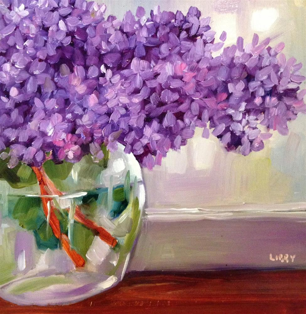 """Left Lilacs"" original fine art by Libby Anderson"
