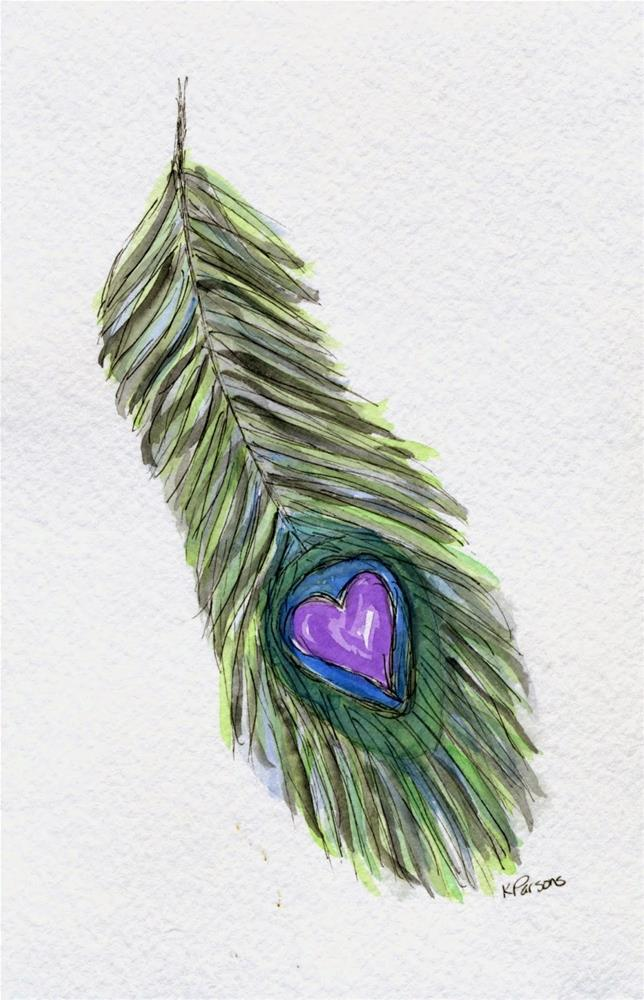 """""""Feathered Love"""" original fine art by Kali Parsons"""