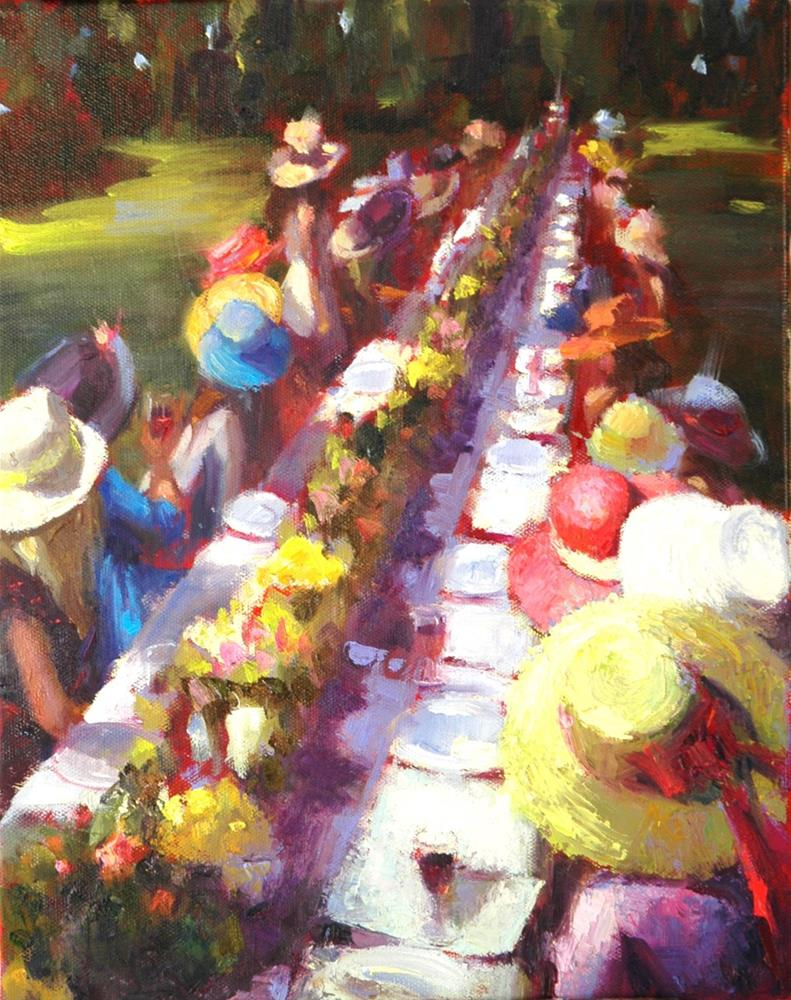 """""""The Cotswold Garden Party"""" original fine art by Johanna Spinks"""
