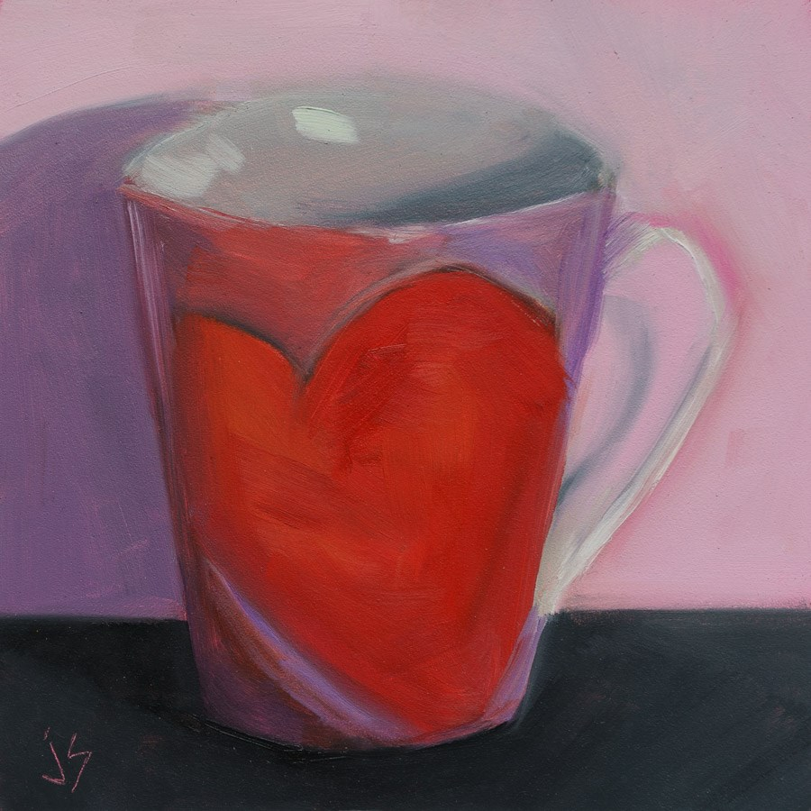 """""""Valentine's Cup"""" original fine art by Johnna Schelling"""