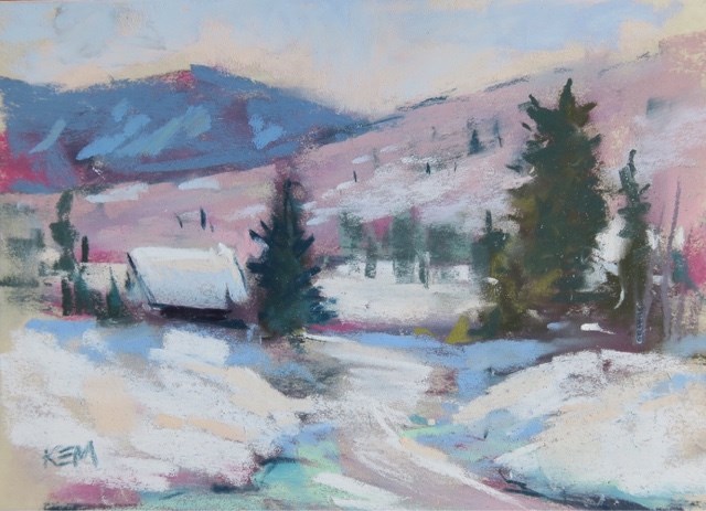 """""""Another Day to Paint in the Snow"""" original fine art by Karen Margulis"""